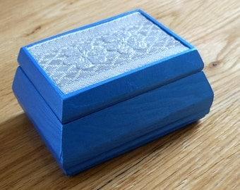 Trinket/Gift/Decorative/Ring box/Earring box/ Blue box