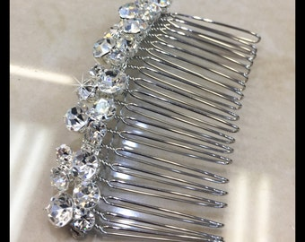 Rhinestone Hair Comb, Bridal Hair Accessories Style#06