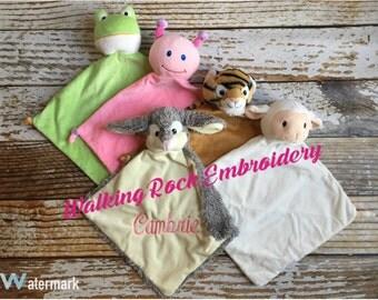 Personalized lovie blankets - Monogrammed Lovie - Personalized lovey - Monogrammed baby gifts - Monogrammed gifts