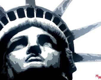 Statue of Liberty Acrylic Painting - New York City - New York City Art - NYC Art - NYC Decor - NYC Wall Art - Statue of Liberty - i love ny