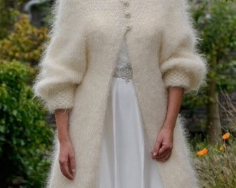 Hand Knitted Angora Mohair 'Fur' Coat