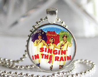 Singin' in the Rain poster Pendant Necklace or Keychain
