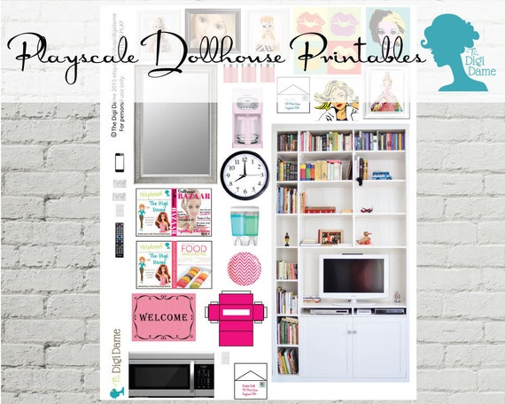 Clearance Pretend Play Printable Playscale 1 6 By Digidame