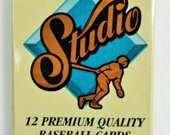 Vintage 1992 Leaf Studio Baseball Trading Cards MLB Foil Pack 92