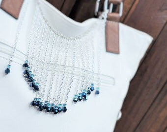 Chain and crystal blue purse wrap