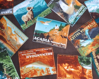 CUSTOM BOXERS for Men, Made to Order, America's National Parks Scenic Postcard Fabric, For the Man Who Loves to Travel, Choose Size
