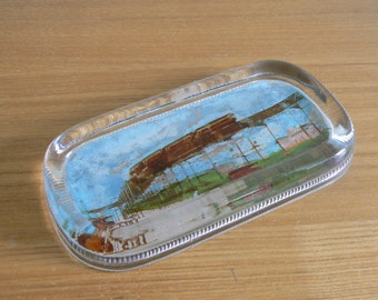 REDUCED ** Stunning Glass Paperweight by A. C. Bosselman & Co, New York