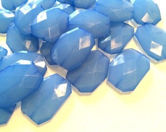 XL 39mm Sky Blue Beads, Blue Chunky Acrylic Beads, Jewelry Making, Necklaces, Bracelets, Earrings Making, Statement Necklaces