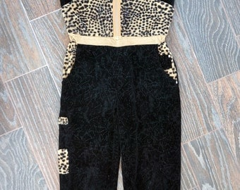 Women jumpsuit. Velvet jumpsuit-black jumpsuit