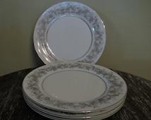 Set of Four Salad Plates Florentine by Sango Japan