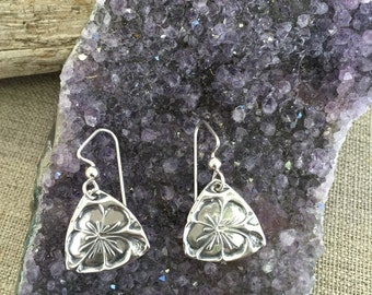 Hibiscus Silver Earrings