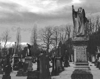 Remember the Dead -  Artwork Angel Photo - Cemetery Angel Statue Photo - Angel Print - Guardian Angel Wall Art - Cemetery Photograph