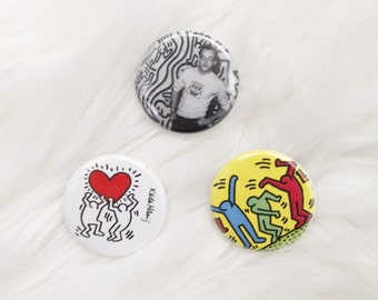 Keith Haring Pinback Buttons