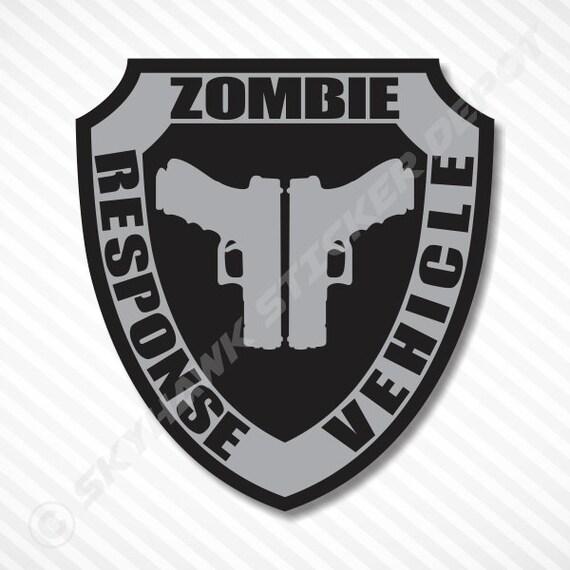 Zombie Response Vehicle Badge Sticker Label Vinyl Decal