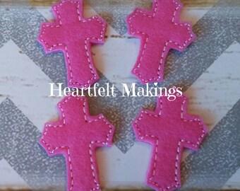 Pink cross felties