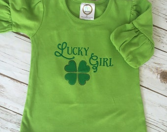 Lucky Girl! Spring or St. Patrick's Day Shirt