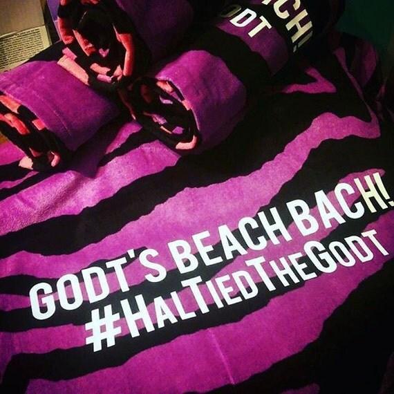 Beach Towel Hashtags: Bachlorette Wedding Best Friends Hashtag By HelloBeYOUteeFULL