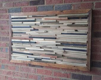 wall art 3D pallet wood reclaimed rustic modern