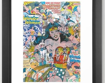 Vintage Comic Wonder Woman Limited Edition Print A3