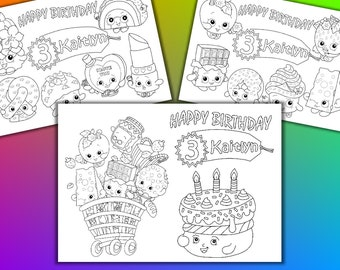 Shopkins Birthday Party Favor, Shopkins coloring pages, PDF file