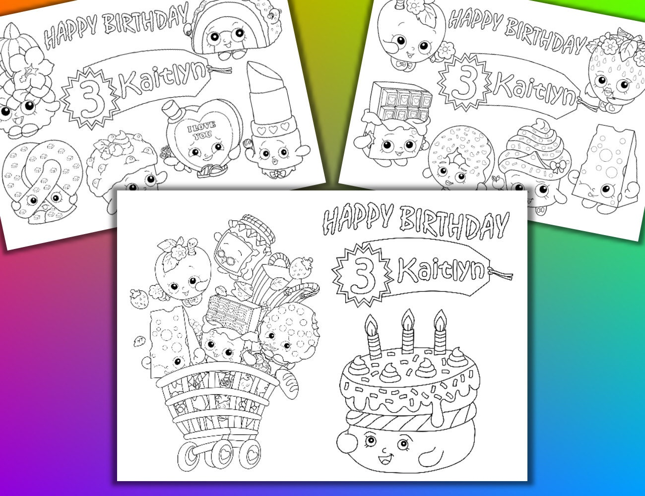 Shopkins coloring pages nail polish -  Shopkins Coloring Pages Pdf File Zoom