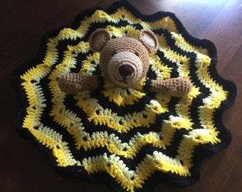 Yellow Teddy Bear Lovey