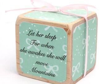 Wood Blocks - Shabby Chic Nursery Room Decor - Baby Girl - Baby Shower Gift - Personalized Blocks - 2 Inch