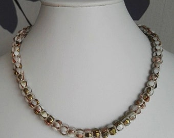 Gold and silver necklace or collar marriage (40cm)