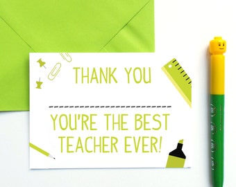 Best Teacher Thank You Card