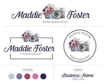 Photography logo premade logo package camera logo graphic design photographers logo branding package