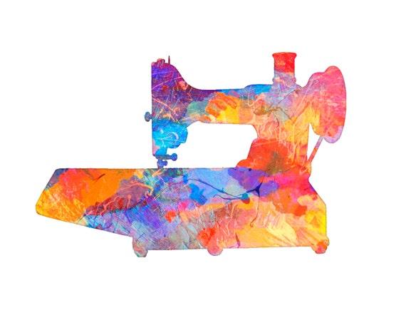 "Sewing Machine Vintage Art Print Dan Morris ""Sewing Machine 4"". Sewing art, vintage sewing machines, gift quilter,mom gift"