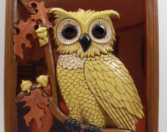 Coppercraft Guild Owl 3D Wall Picture