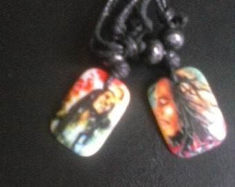 Bob Marley,rasta,reggae, pendants two with cords, FREE SHIPPING