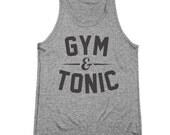 Gym And Tonic Funny Workout Top Party Humor Tri-Blend Tank Top DT0239