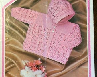 Knitting pattern girls hooded cardigan
