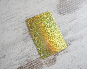 A7 pocket dashboard sparkling gold