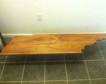 Tennessee shaped modern coffee table. Free shipping