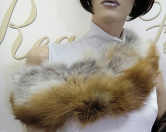 SALE!New!!!Natural Real Fur Red Fox collar!