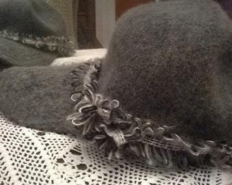 Colored wool Adjustable Cap grey