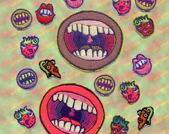 Big mouth monster mouth sweet mouth patch