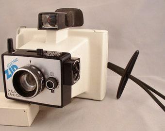Vintage POLAROID Electric Zip Land Camera -  1970s Vintage Camera