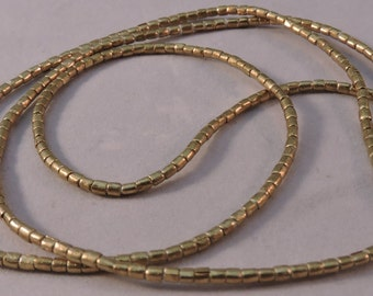 Ethiopian Very Small Brass Spacer Beads/ African metal beads