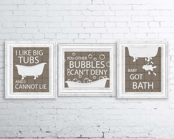 Bathroom Puns bathroom print set i like big tubs print set sir mix a lot