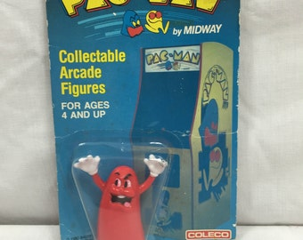 Vintage Pac-Man Blinky Figure New in Package Coleco 1980