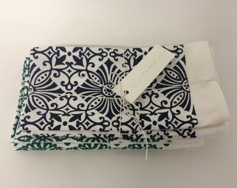 Set of 4 screen printed napkins
