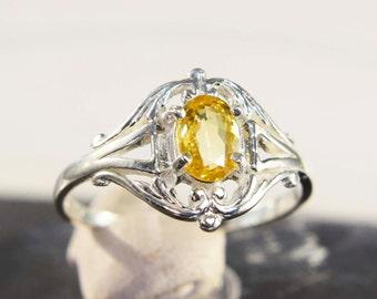 Genuine Yellow Sapphire Ring