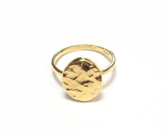 Ring gold vermeil AREMBEPE