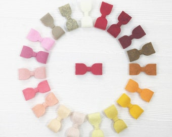 Baby Boco Box - Set of 6 Felt Bows (Mix n' Match)