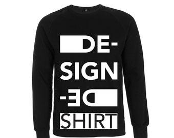 DE_SIGN_ED logo HOODIE shirt font