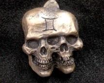 Gemini, Twins, Astrology, Conjoined, Horoscope, Zodiac, Keychain skull art grotesque cult Sculpture Resin kit Dark Art horror Art